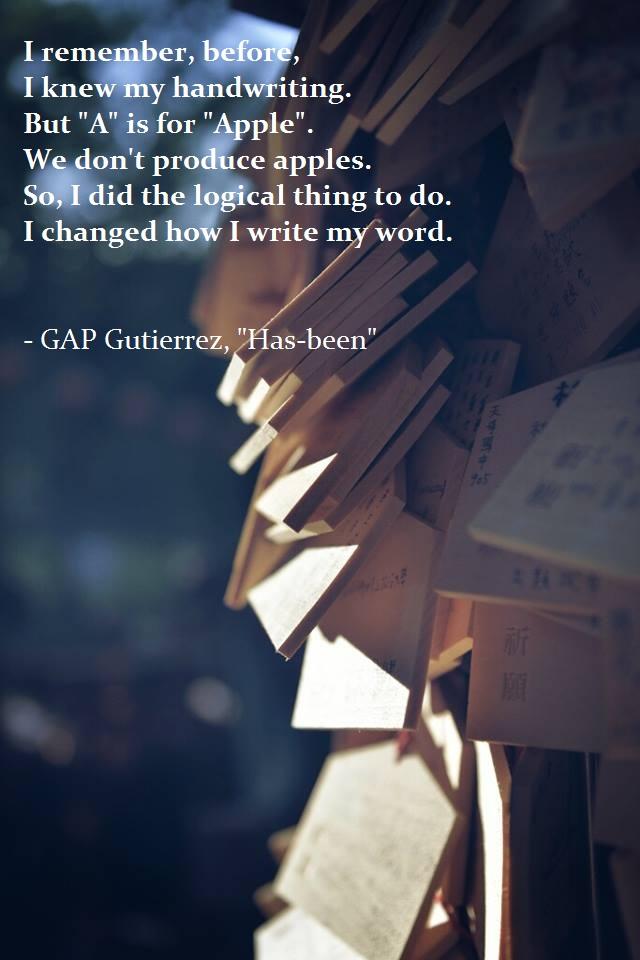 Has-been by GAP Gutierrez
