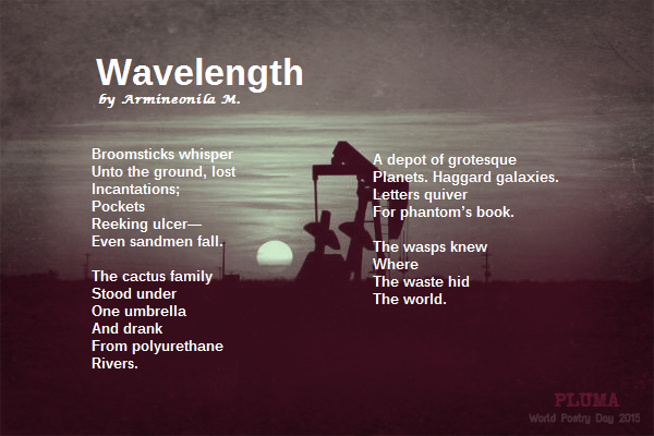 """Wavelength"" by Armineonila M. World Poetry Day, March 21, 2015."